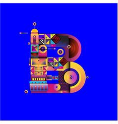 Colorful alphabet font letter ba for logo vector