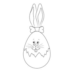 contour easter bunny vector image