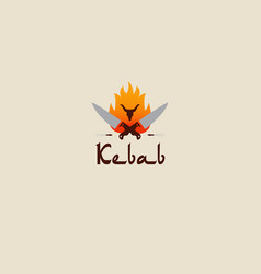 doner kebab logo templates creative labels vector image