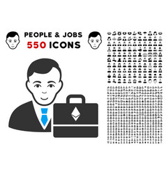 Ethereum accounter icon with bonus vector