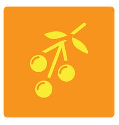 Flat color cherry icon vector