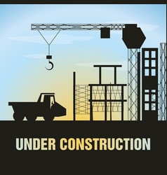 Flat under construction concept vector