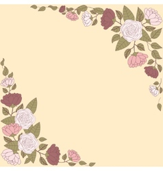 Floral card with abstract flowers vector image