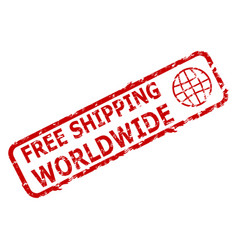 Free shipping worldwide rubber stamp vector