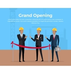 Grand Opening Concept vector
