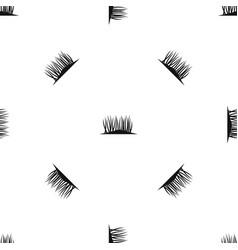 Grass on ground pattern seamless black vector