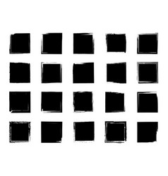 grunge square rectangle with border vector image
