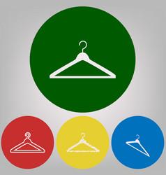 hanger sign 4 white styles vector image