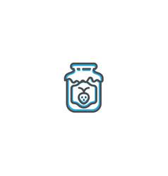 jam icon design gastronomy icon vector image