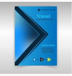 Journal travel vector