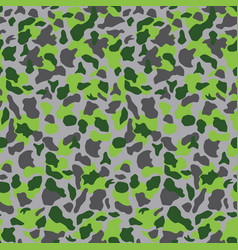Khaki camouflage seamless pattern in green and vector