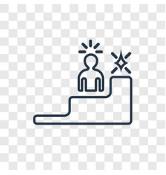 leadership concept linear icon isolated on vector image