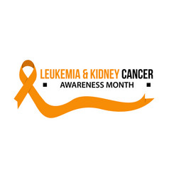 leukemia and kidney cancer ribbon awareness vector image