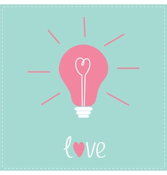 Light bulb with heart inside Idea concept Love vector
