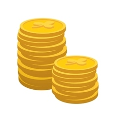 Lucky gold coin cartoon icon vector image