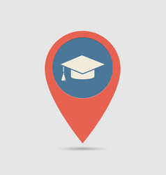 map pin high school vector image