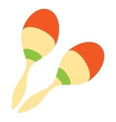 Maracas icon flat style vector