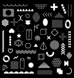 mega pack white geometric shapes isolated vector image