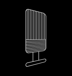 Microphone outlined icon vector