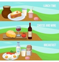 milk food banner set vector image