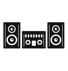Modern stereo system icon simple style vector