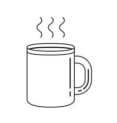 mug of hot drink line icon vector image