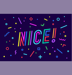 nice banner speech bubble poster and sticker vector image