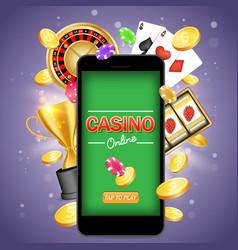 online gambling poster banner design vector image