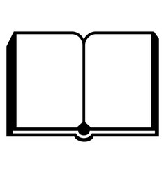 open new book icon simple style vector image