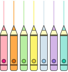 Pastel color pencils vector