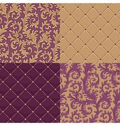 pattern baroque set vector image vector image