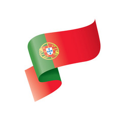 Portugal flag on a white vector