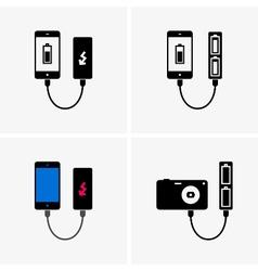 Power bank vector image