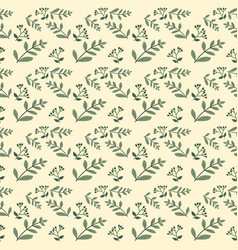 seamless pattern design with flowers vector image