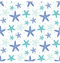 seamless pattern with cute starfish isolated on vector image