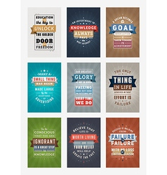 Set of Inspirational and Motivational Quotes vector image