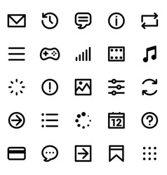 Simple interface icons set vector