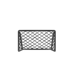 Soccer goal hand drawn outline doodle icon vector