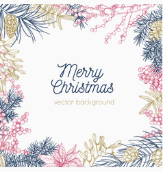Square monochrome holiday background or backdrop vector