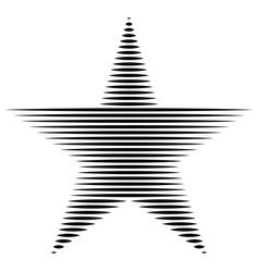 star horizontal lines stripes freedom usa vector image