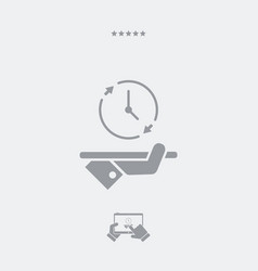 steady top services - minimal modern icon vector image