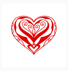Stylize heart icon isolated on white valentines vector