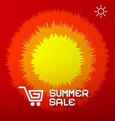 Summer Sale Paper Title on Abstract Red - Orange vector image