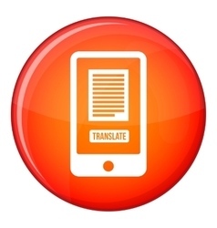 Translate application on a smartphone icon vector