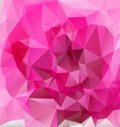Valentine pink polygonal triangular pattern vector