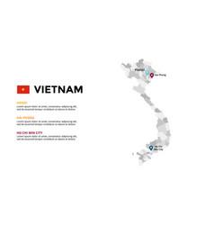 Vietnam map infographic template slide vector