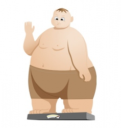weighing vector image