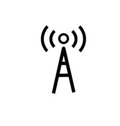 wifi radio signal antenna icon vector image