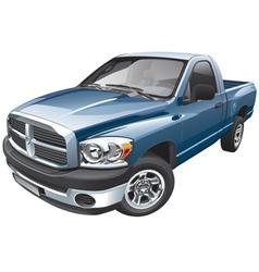 American full size pickup vector image