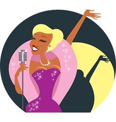 Cabaret singer vector image